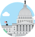 clip art of the capitol buidling