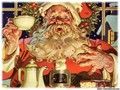 Picture of Santa eating