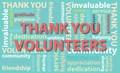 Thank you volunteers logo
