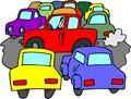 clip art of a traffic jam