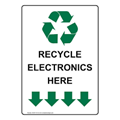 electronic devices going into a bin