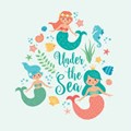Picture mermaids under the sea