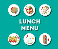 lunch menu with lunches