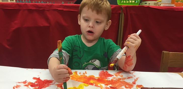 Preschool painting fun