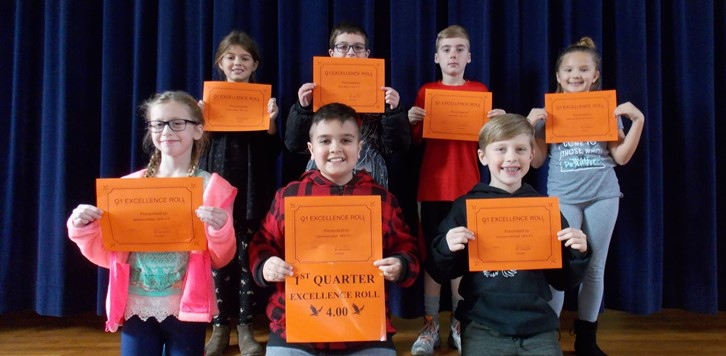 Q1 Eagle Excellence Roll 4th grade