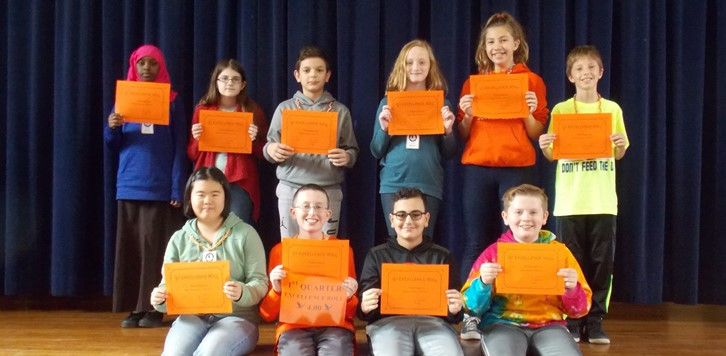 Q1 Eagle Excellence Roll 6th grade
