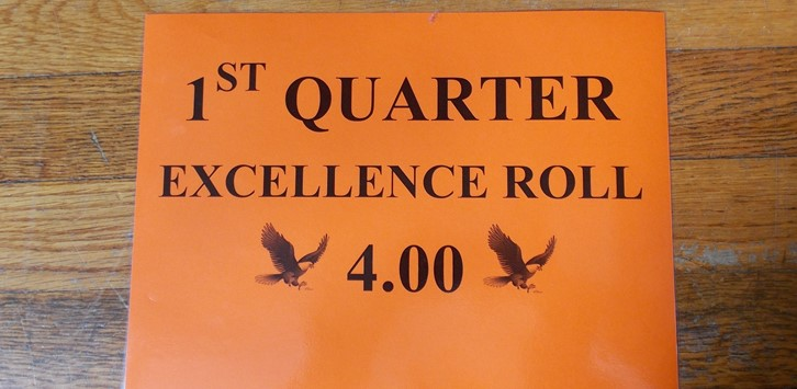 Q1 Eagle Excellence Roll sign