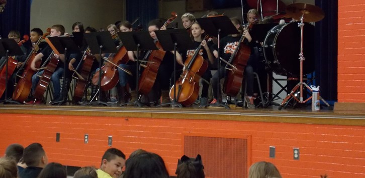 Orchestra string players