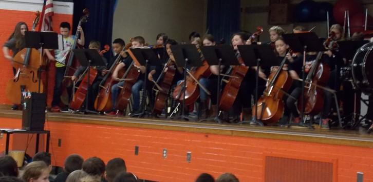 orchestra cello line up