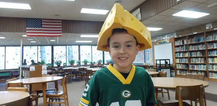 Student Council Spirit Day cheesehead