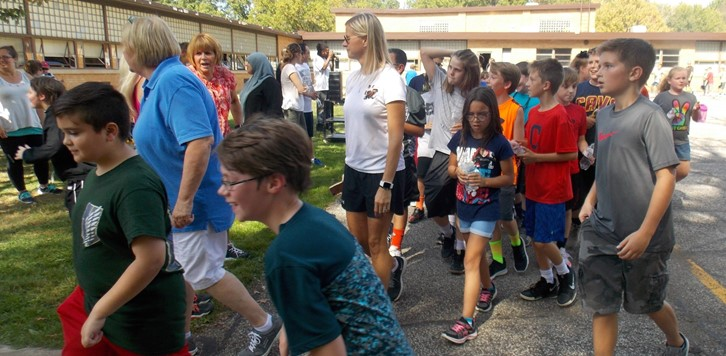 Walk-a-thon teachers and students