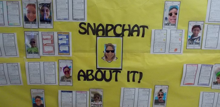 snapchat wall decor for Parent Night