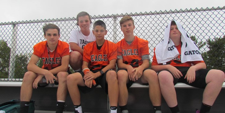 8th grade football players