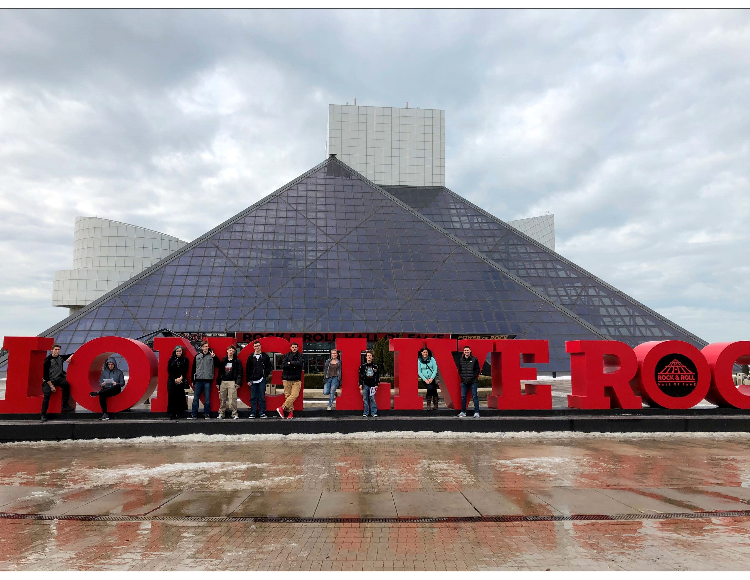 Students at Rock and Roll Hall of Fame
