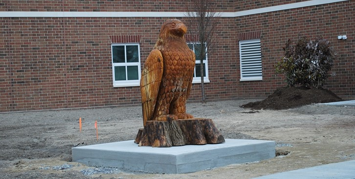EagleStatue in Courtyard