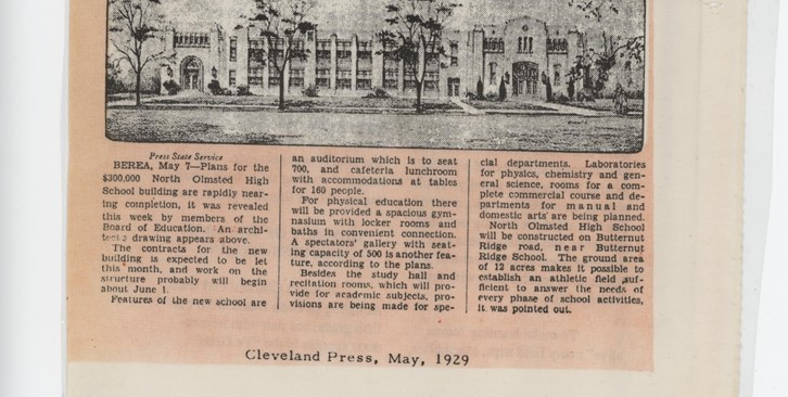 Old High School News Article