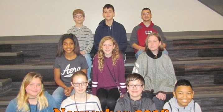 12 students of the month for November