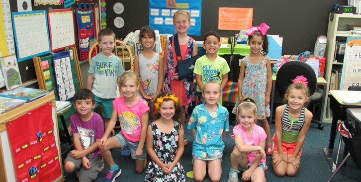 Tropical Spirit Day - Students Dressed in Tropical Attire