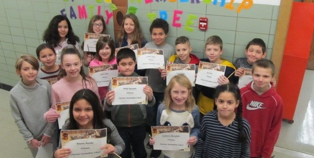 Picture February's Students of the Month