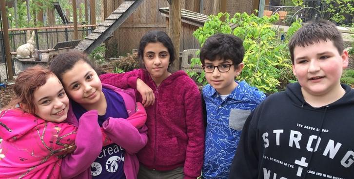 5th grade students at the Natural History Museum