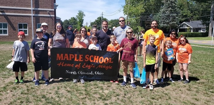 Maple  School parade group