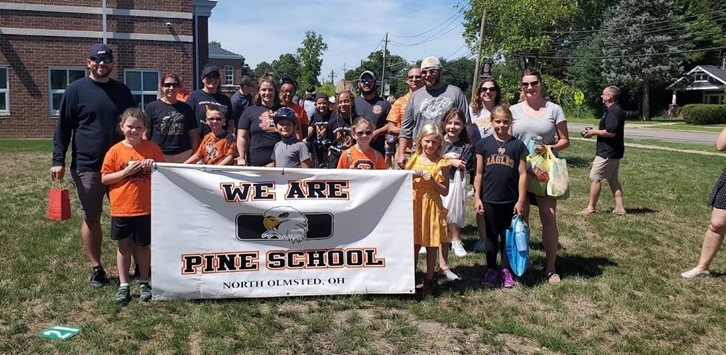 Pine School parade group
