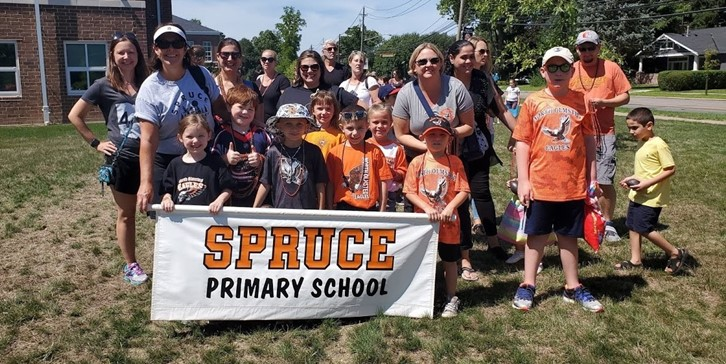 Spruce School parade group