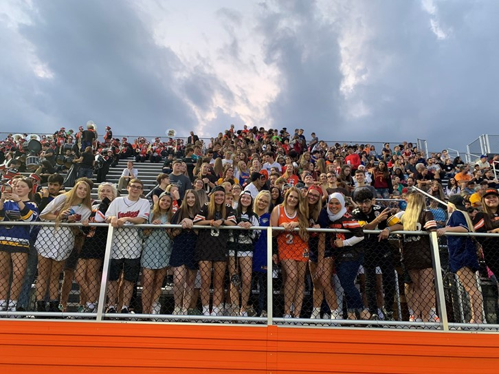 Fans at Football Game
