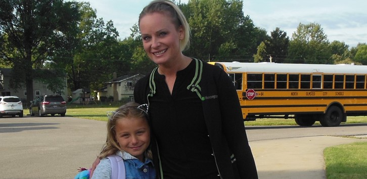 Student and parent first day
